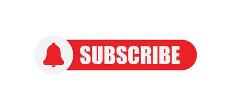 Subscribe button. Isolated vector illustration.   Web element.