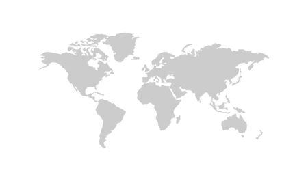 World map silhouette vector australia, asia america europe. Isolated illustration white background. Ilustracje wektorowe