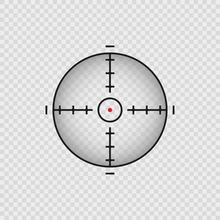 Aim for concept design. Transparent background. Abstract vector background. Vector radar screen 向量圖像