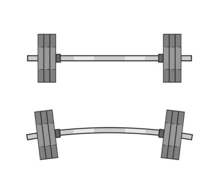 barbell illustration with barbell for lifestyle design. Abstract vector background. Gym equipment.