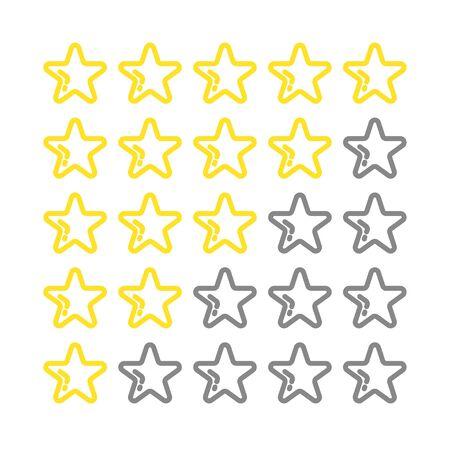 Star icon vector flat design. Premium quality golden icon on white backdrop. 向量圖像