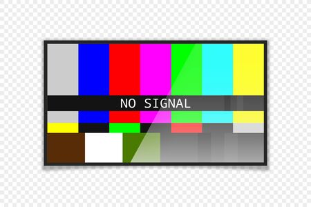 Realistic tv no signal screen. Modern design. Isolated vector illustration