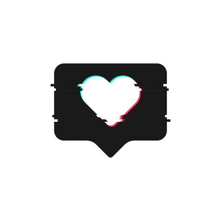Like glitch in modern style. Social media concept. Isolated flat vector illustration