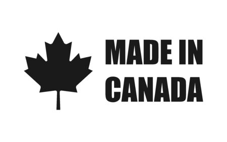 Made in Canada. Leaf icon design element. Vector isolated illustration