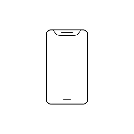 Phone line icon. Smartphone internet technology isolated vector for wab design