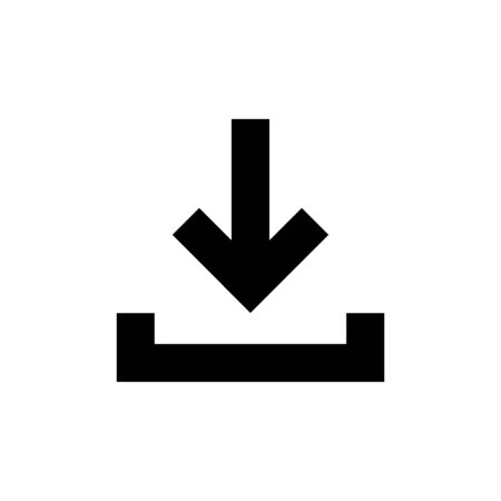 Download button isolated icon in flat style. Vector for wab design Illustration