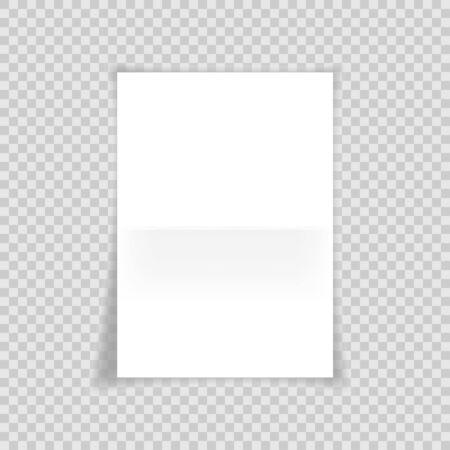 Paper on transparent background for banner design. Vector illustration.