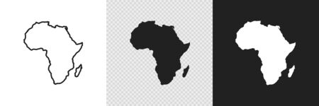 Africa map set icon, geography concept. Vector abstract graphic design.
