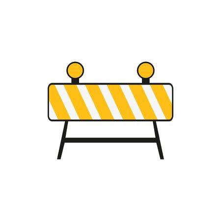 Roadblock hurdle road icon illustration for web design. Isolated vector