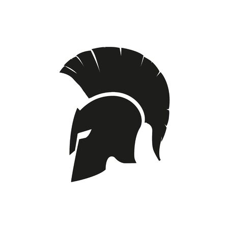Sparta helmet mask isolated icon. Vector design   illustration in flat style Stock fotó - 149994664