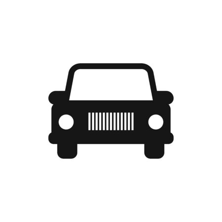 Car flat icon isolated vector sign symbol.  Transport concept