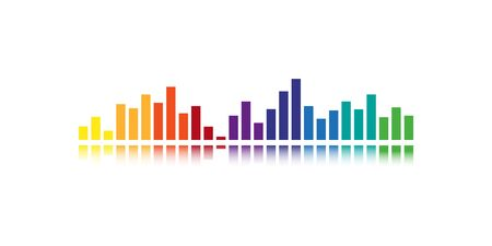 Sound colorful wave, gradient illustration. Isolated vector audio element for web