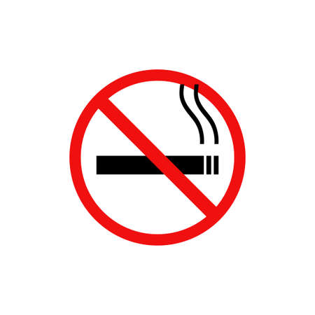 No smoking sigm symbol. Vector stop flat icon. Isolated ban illustration Illusztráció