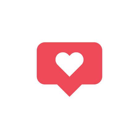 Like icon notification. Social media heart. Vector for web design.
