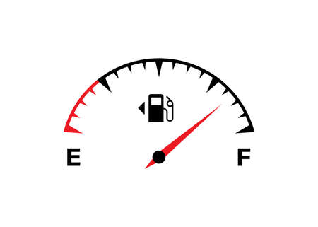 Fuel meter icon. Full fuel gauge. Gas tank. Vector isolated flat illustration