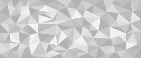 Abstract triangles background. Geometric white and gray pattern. Vector illustration