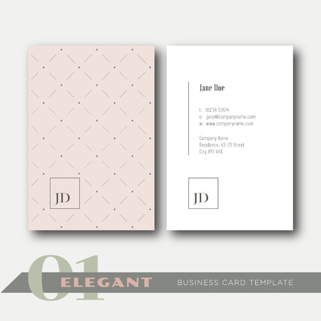 01: 01 Elegant business card template
