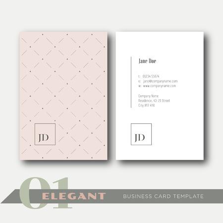 visitekaartje: 01 Elegant visitekaartje sjabloon Stock Illustratie