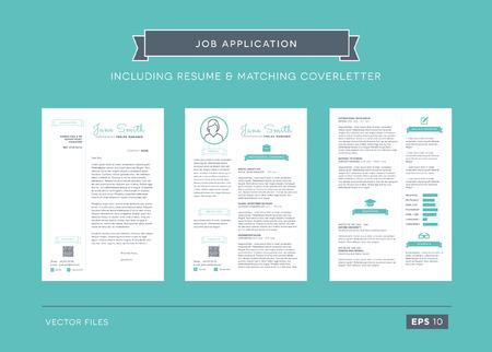 job application: Fancy job application template