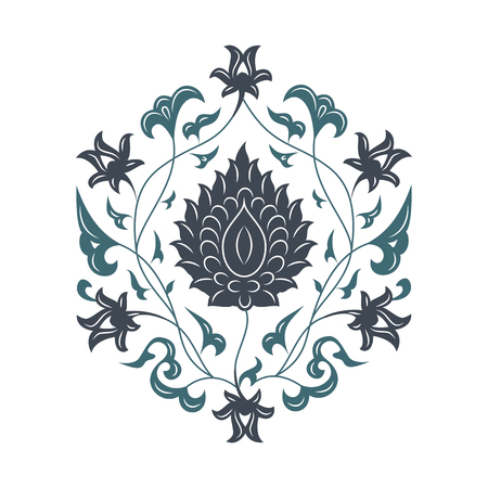 turkish: 03 Floral pattern, blue