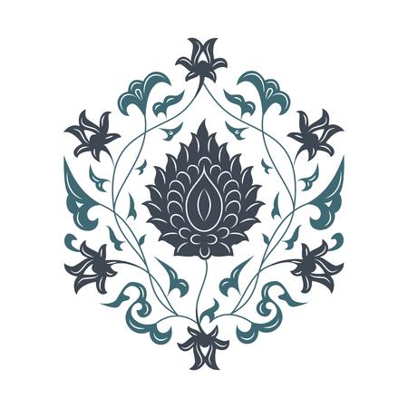 03 Floral pattern, blue