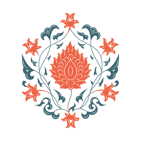 iznik: 03 Floral pattern, orange