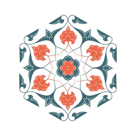 iznik: 02 Floral pattern, orange