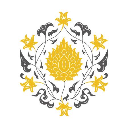 03: 03 Floral pattern, yellow Illustration