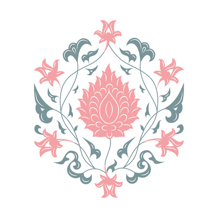 iznik: 03 Floral pattern, pink