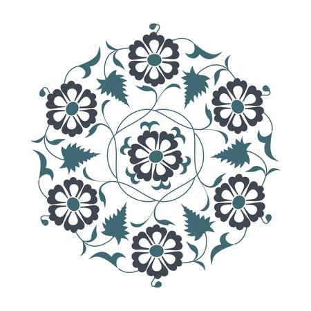 01: 01 Floral pattern, blue