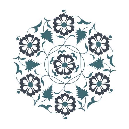 ceramica: 01 Modelo floral, azul