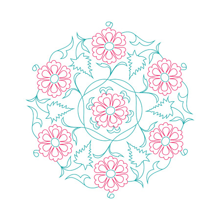 lineart: 01 Floral pattern line-art, tale