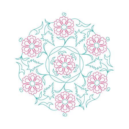 01: 01 Floral pattern line-art, tale