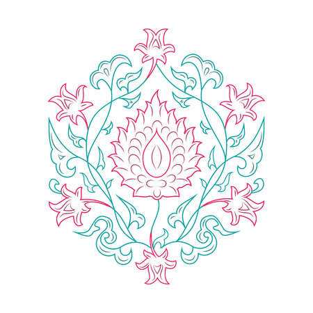 lineart: 03 Floral pattern line-art, tale