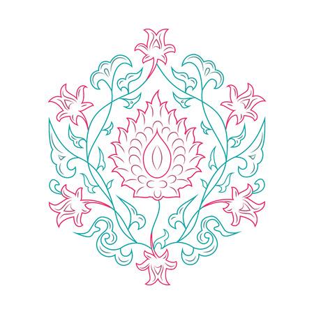 03: 03 Floral pattern line-art, tale