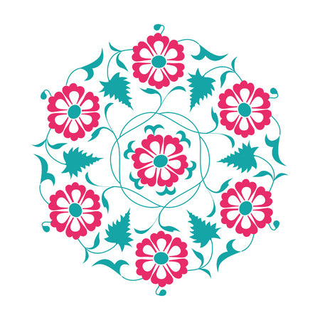 01: 01 Floral pattern, tale