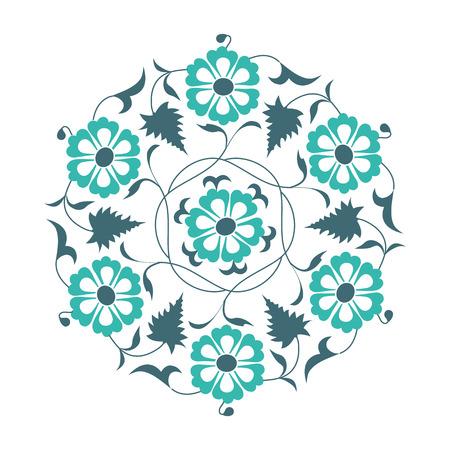 01: 01 Floral pattern, light blue
