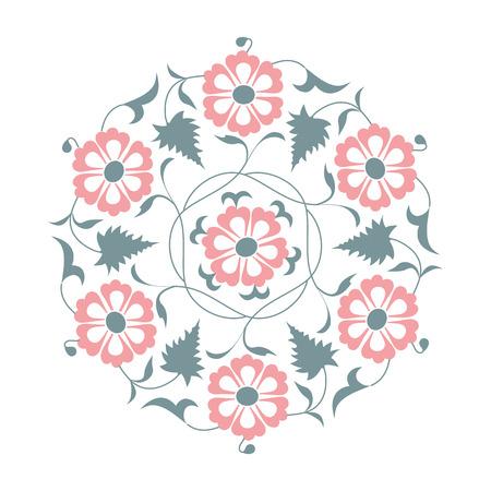01: 01 Floral pattern, pink