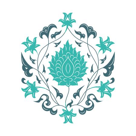 03: 03 Floral pattern, light blue
