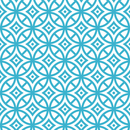 circles pattern: 01 Geometric vector seamless pattern. Modern stylish texture. Repeating geometric circles with dotts and rhombus, blue.