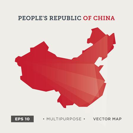 Moder kaart van China
