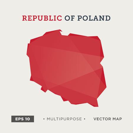 polish flag: 05 Modern map of Poland