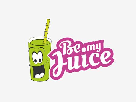 Juice illustration, Juice bar logo Illustration