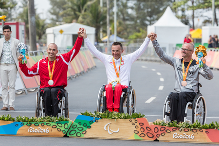 Zomer Paralympische spellen in Rio in 2016 Stockfoto - 75851288
