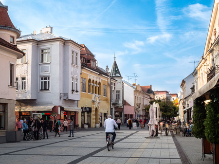 Central street in the wellness town of Piestany
