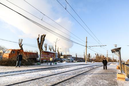 Ekaterinburg, Russia - a frozen city Editorial