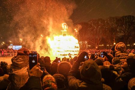 February 18th 2018 - Moscow, park Gorkij. Maslenitsa celebrations. Editorial