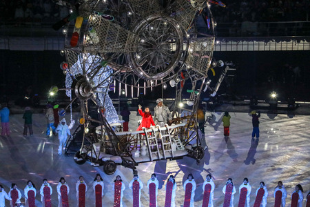Peyongchang, South Korea - 2018 March 9th - Opening ceremony of the winter paralympic games