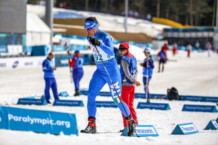 Pyeongchang 2018 March 14th Biathlon center - Cristian Toninelli in Cross-Country Skiing - Mens standing