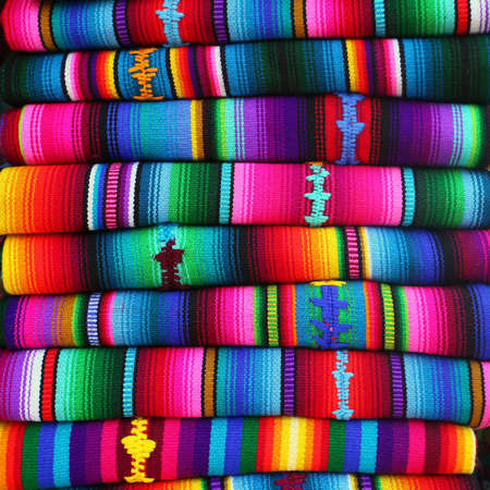 textile design: colorful blankets from Guatemala